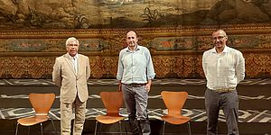 Palacio Ricci Vimini nella platea del teatro Rossini