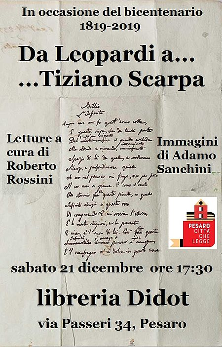 Da Leopardi a Tiziano Scarpa