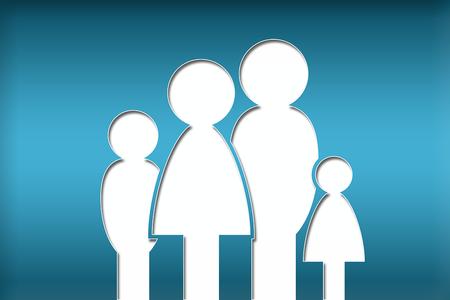 Famiglia stilizzata composta da 4 persone