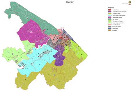 Mappa 12 quartieri