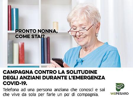 """immagine brochure campagna """"Pronto nonna, come stai?"""""""