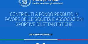 CONTRIBUTI A FONDO PERDUTO A FAVORE DELLE ASSOCIAZIONE SPORTIVE DILETTANTISTICHE E DELLE SOCIETA' SPORTIVE DILETTANTISTICHE