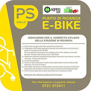 Logo ricarica e-bike punto giallo