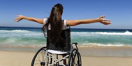 Disabile in spiaggia