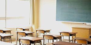 Aula scolastica vuota