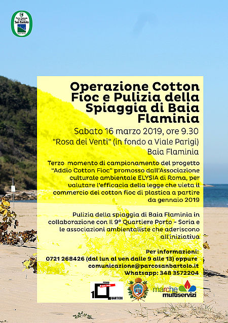 "Pulizia spiaggi a Baia Flaminia per iniziaitiva ""cotton fioc"""