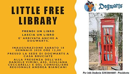 Dogwarts inaugurazione Little Free Library