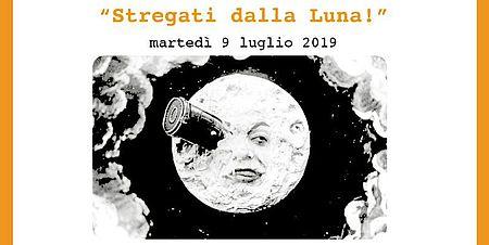 """immagine tratta dalla locandina raffigurante la luna dal film """"Viaggio nella luna"""" di Georges Méliès"""