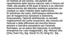 Berloni, Ricci coinvolge il governo: «Fermare l'iter della liquidazione»