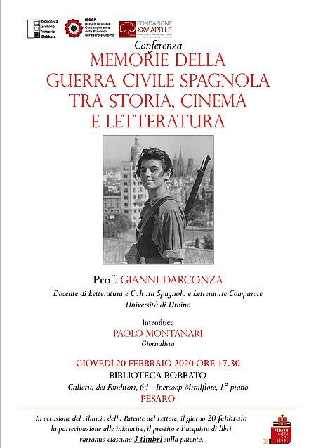 """Memorie della guerra civile spagnola tra storia, cinema e letteratura"""""""