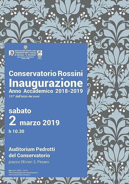 Inaugurazione Anno Accademico Conservatorio 2019