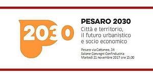 scritta Pesaro 2030