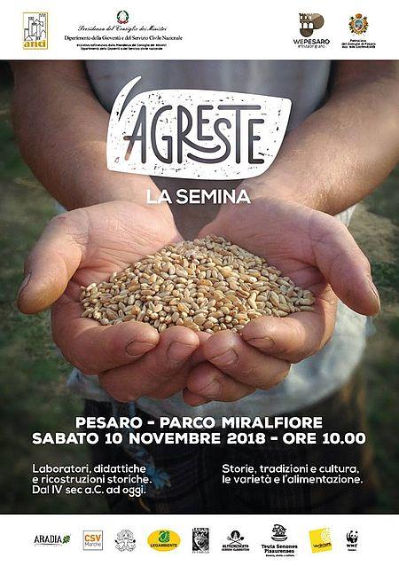 Locandina iniziativa La semina al Parco Miralfiore