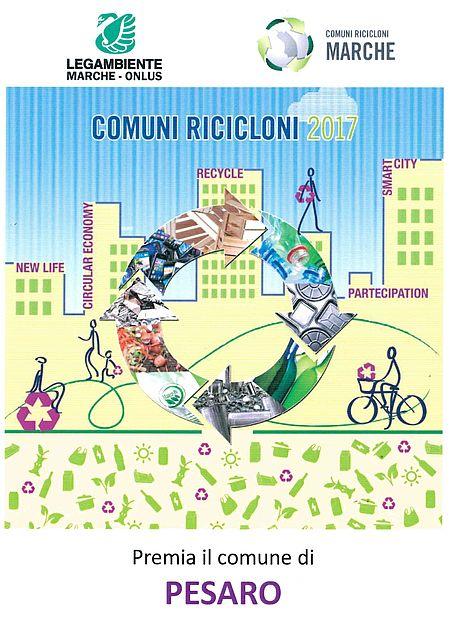 locandina Pesaro come Comune Riciclone 2017