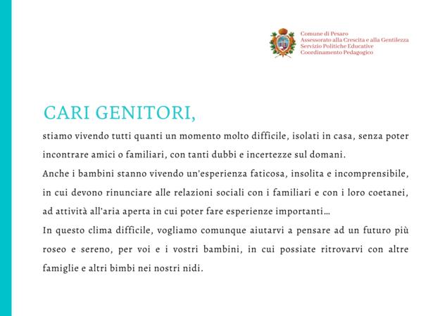 lettera Ceccarelli Open Day Nidi 2020