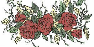 Disegno di alcune rose