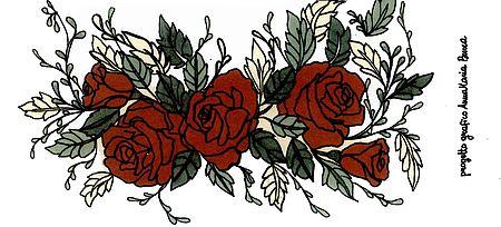 particolare disegno rose