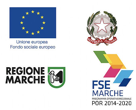 Logo POR Regione Marche Comunità Europea