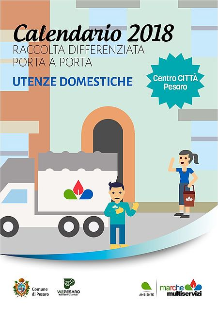 In Un Quartiere Di Una Citta Il Calendario Della Raccolta Differenziata.Comune Di Pesaro Calendari Raccolta Differenziata 2018