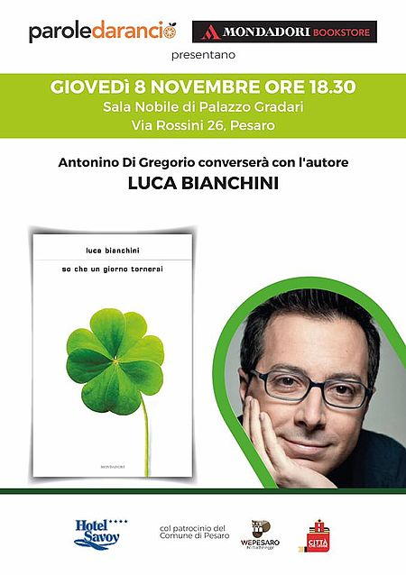 Locandina presentazione libro di Luca Bianchini