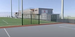 immagine del progetto del nuovo impianto sportivo di Villa Fastiggi