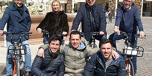 autorità in bicicletta