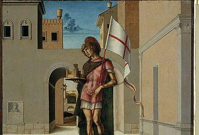 San Terenzio_pilastrino Pala dell'Incoronazione della Vergine di G. Bellini