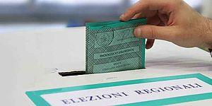 Urna con schede per elezioni regionali