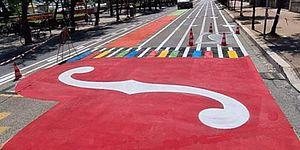 pentagramma disegnato in strada