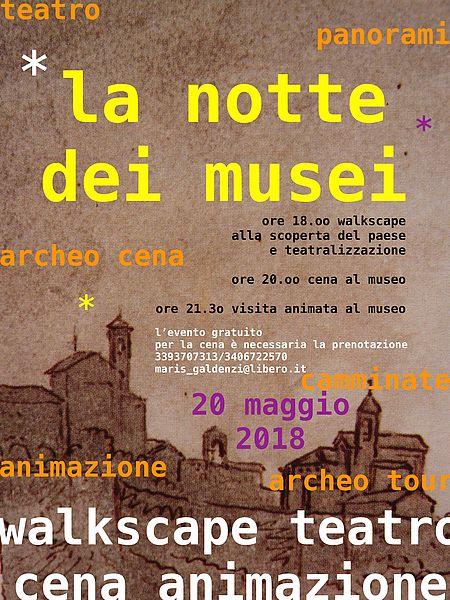 Locandina La notte dei Musei a Novilara