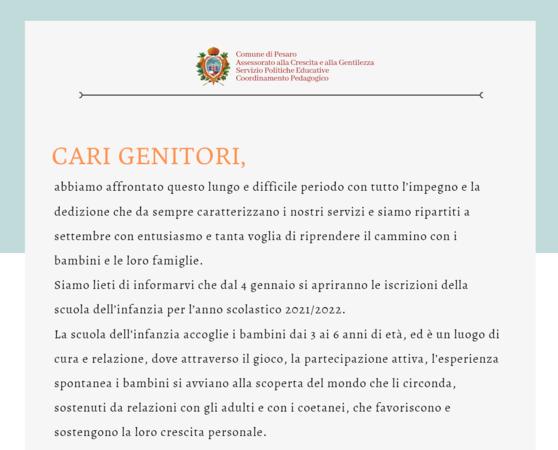 lettera Ceccarelli Open Day Scuole 2021