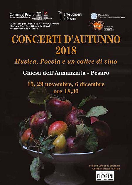 locandina Concerti d'Autunno Ente Concerti 2018