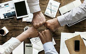 Immagine squadra di imprenditori