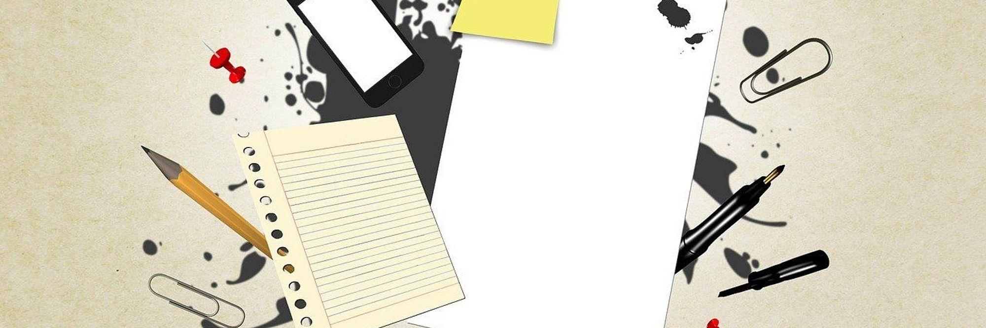 immagini di foglio cellulare penna