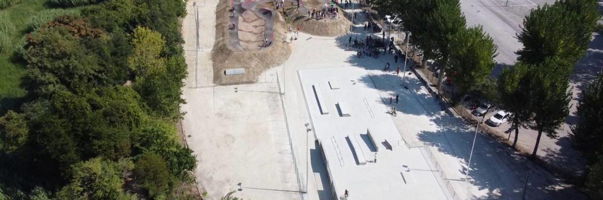 Foto dall'alto degli impianti sportivi di Via dell'Acquedotto
