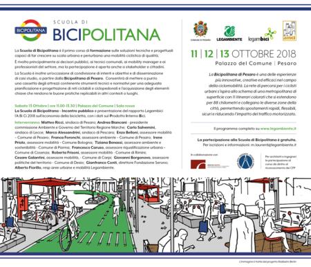 Scuola di Bicipolitana manifesto