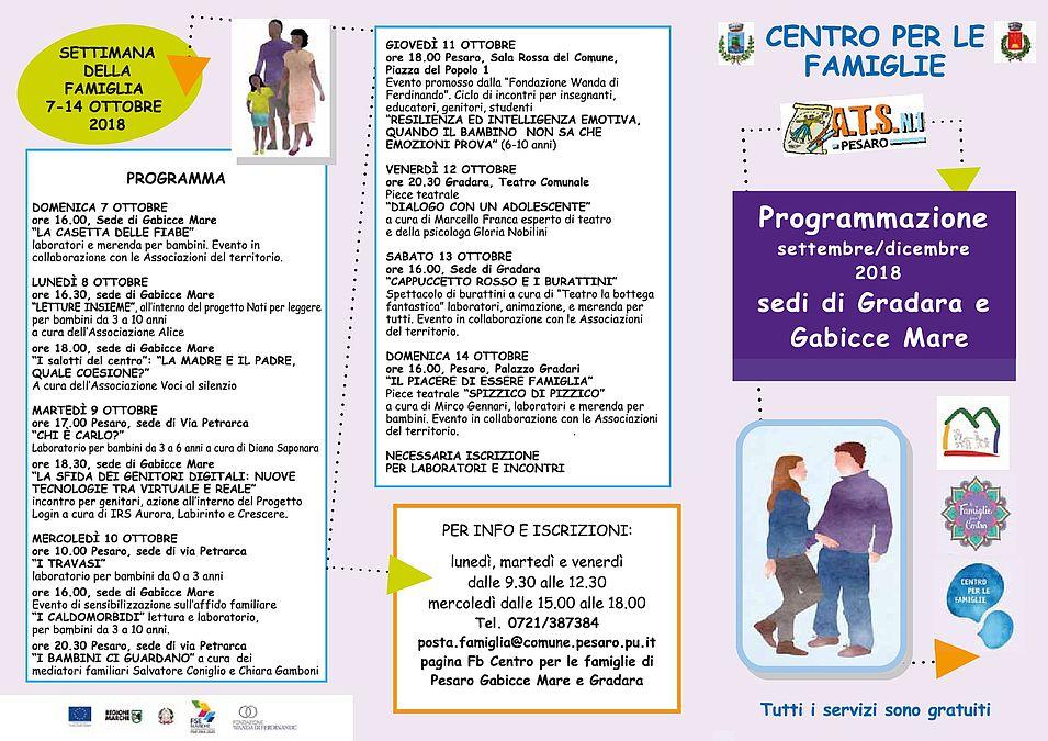 programmazione Centro Famiglie sedi di Gabicce-Gradara_novembre-dicembre 2018