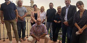 Scriboni D'Angeli Mariani Vimini Albertini Olivucci Damiani Filippini in una terrazza panoramica
