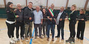 PalaBorgo, Ricci e Belloni 'battezzano' nuovo parquet