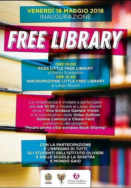Locandina inaugurazione little free library