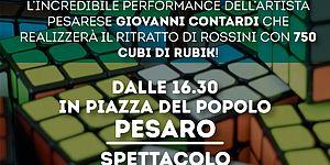 Rossini 'a cubi', sabato 26 gennaio, piazza del popolo, ore 16.30