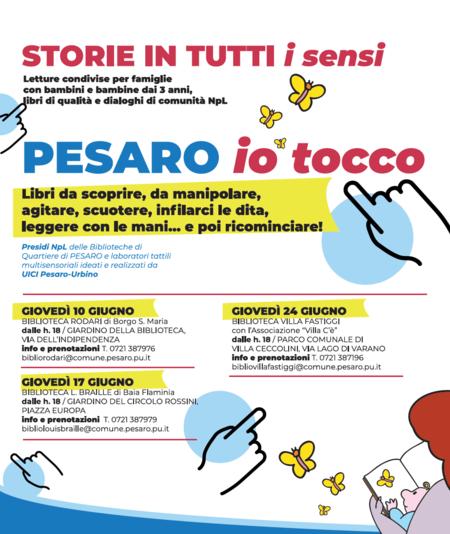 STORIE IN TUTTI I SENSI. PESARO/ IO TOCCO locandina