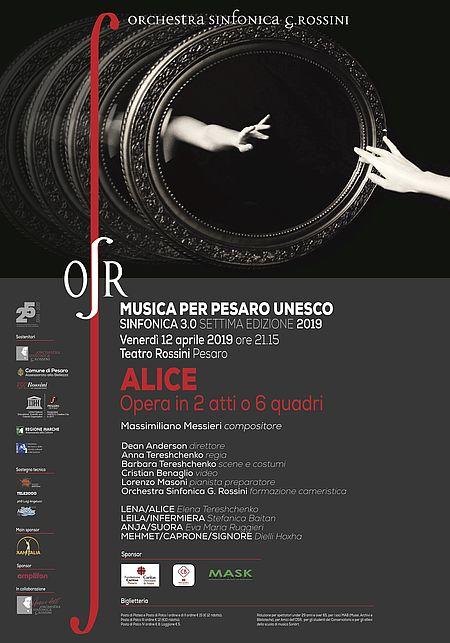 ALICE. Opera in 2 atti o 6 quadri_manifesto