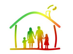 Immagine colorata famiglia