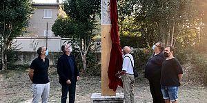 Ricci Ceriscioli ed altri inaugurazione scultura