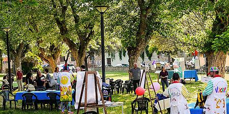 Fotografia di attività nel giardino della San Giovanni