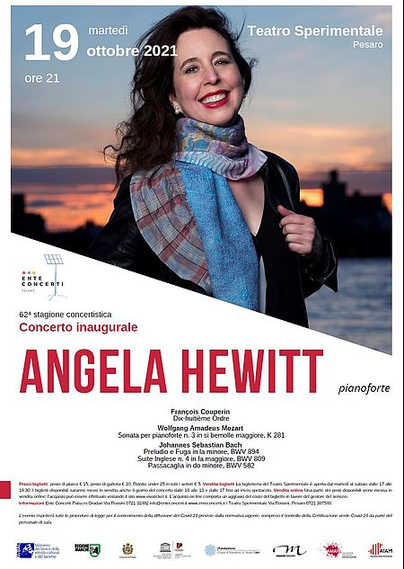 Angela Hewitt. 62a Stagione Concertistica. Manifesto