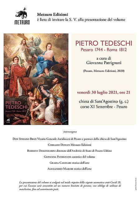 Pietro Tedeschi. Pesaro 1744 - Roma 1812. Locandina