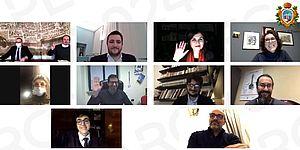Personaggi sullo schermo che hanno partecipato all'incontro