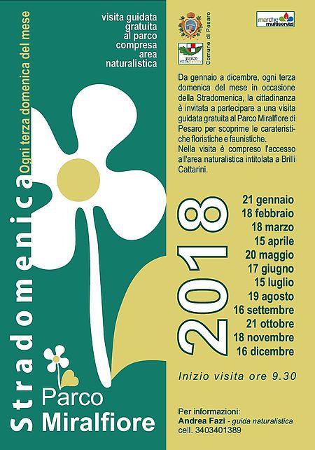 Visite Parco Miralfiore calendario 2018